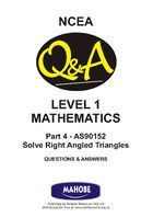 AS90152 Solve Right Angled Triangles