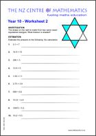 Homework Sheets | Maths CentreYear 10 Worksheet 2