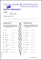 Year 10 Worksheet 7